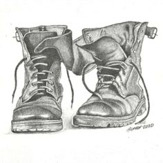 Drawn boots Old boot drawing of Drawing
