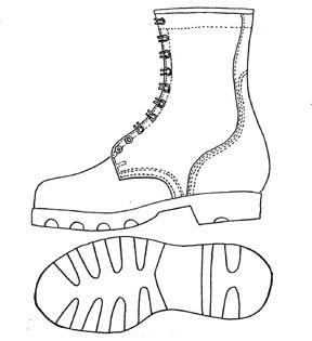 Drawn boots cartoon Boots Resistant B Mildew Combat