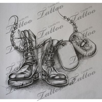 Drawn boots army Army boots Shoes Boots CreateMyTattoo