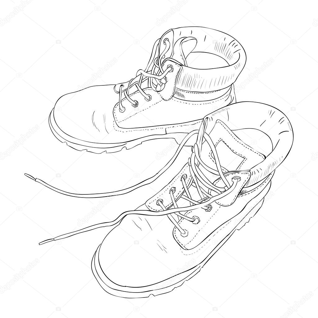 Drawn boots army Sketch BeatWalk with BeatWalk with