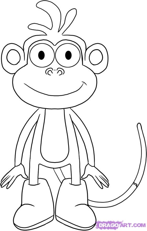 Drawn boots cartoon How Boots monkey step by