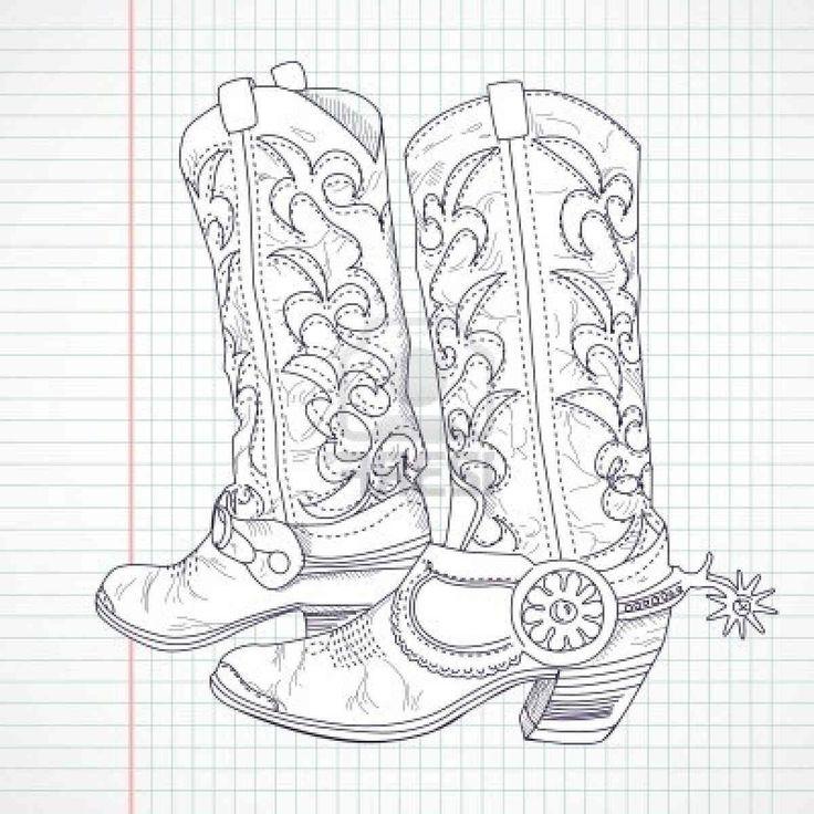 Drawn boots cowboyboot Hd And Cowboy 25+ drawing
