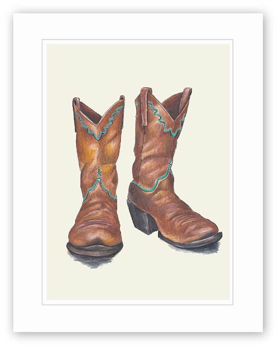 Drawn boots cowboyboot WLforBaby Colored images shoes Pinterest