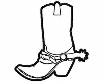 Drawn boots cowboyboot With Design Etsy Machine cowboy