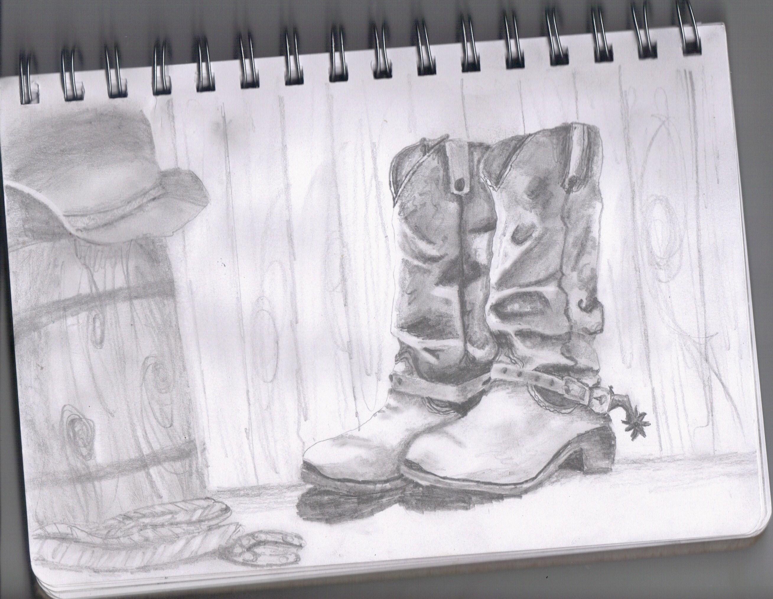 Drawn boots cowboyboot Drawing of create my cowboy