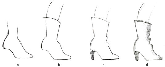 Drawn boots high heel Tall Shoes dummies boot Fashion