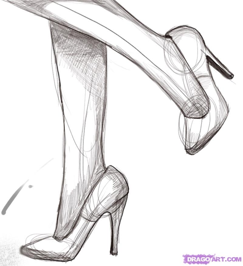 Drawn boots high heel  Drawing Result for Sketches