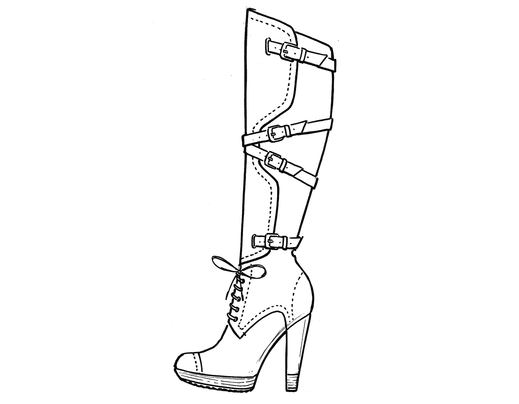 Drawn boots high heel Images Shoes ZB The Pages