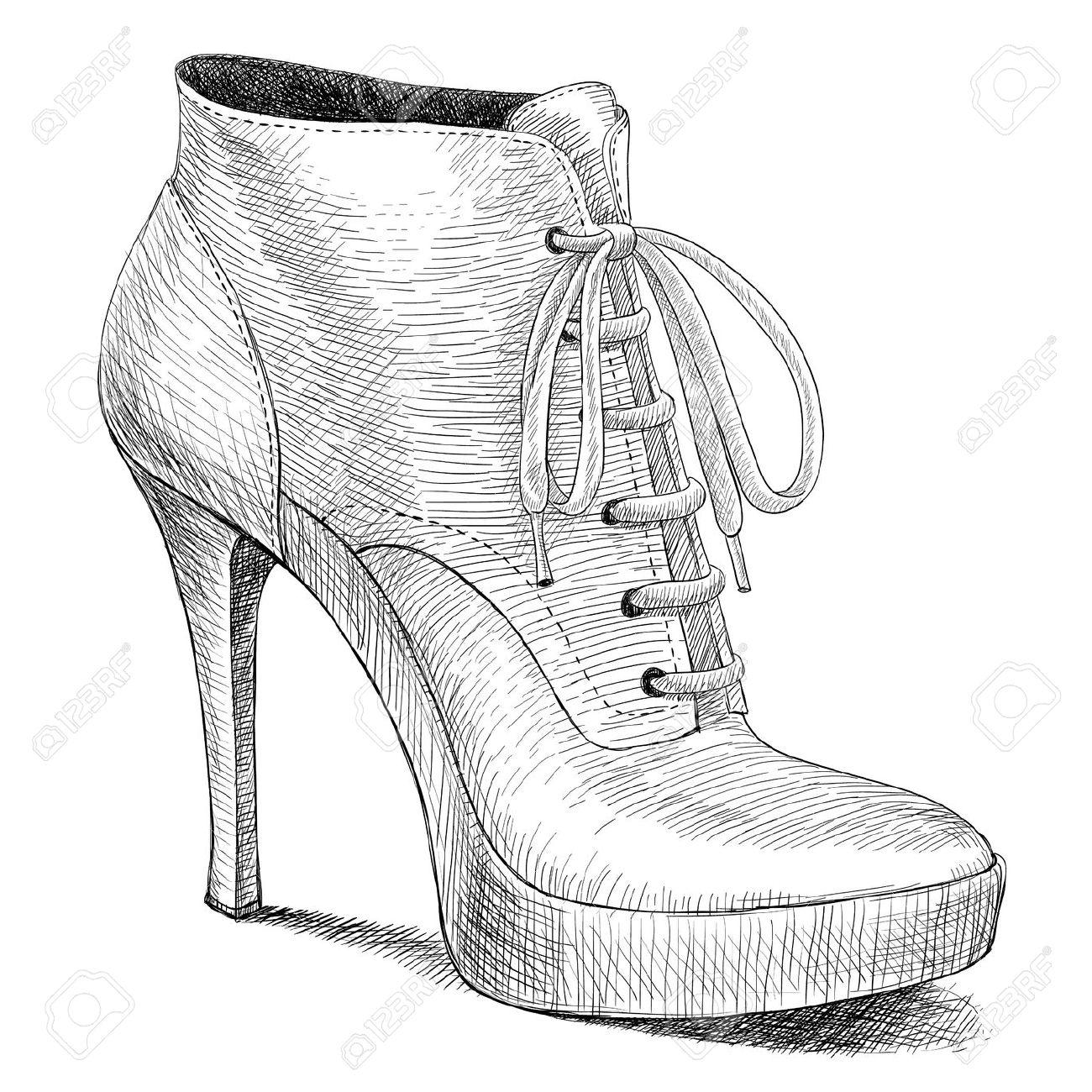 Drawn boots high heel Recherche Fashion sketches How heels