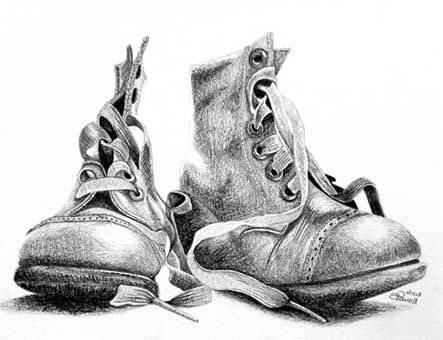 Drawn boots old Academic Old 1532 デッサン images