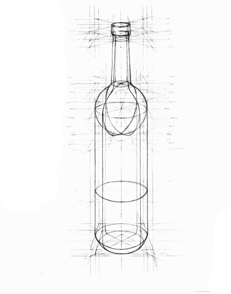 Drawn bottle Bottle drawn wine Cool