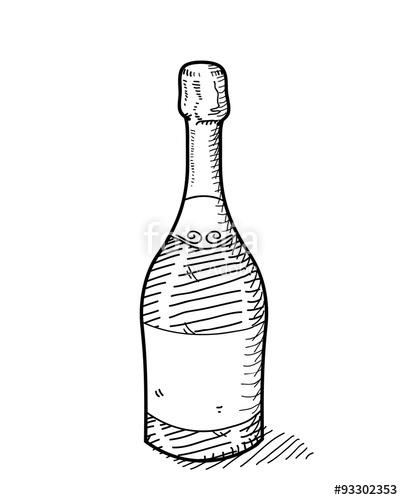 Drawn bottle Illustration  doodle vector a