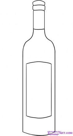 Drawn bottle Bottle bottle  wine Challenge