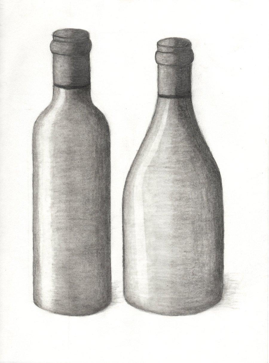 Drawn bottle Bottle pencil shaded Google