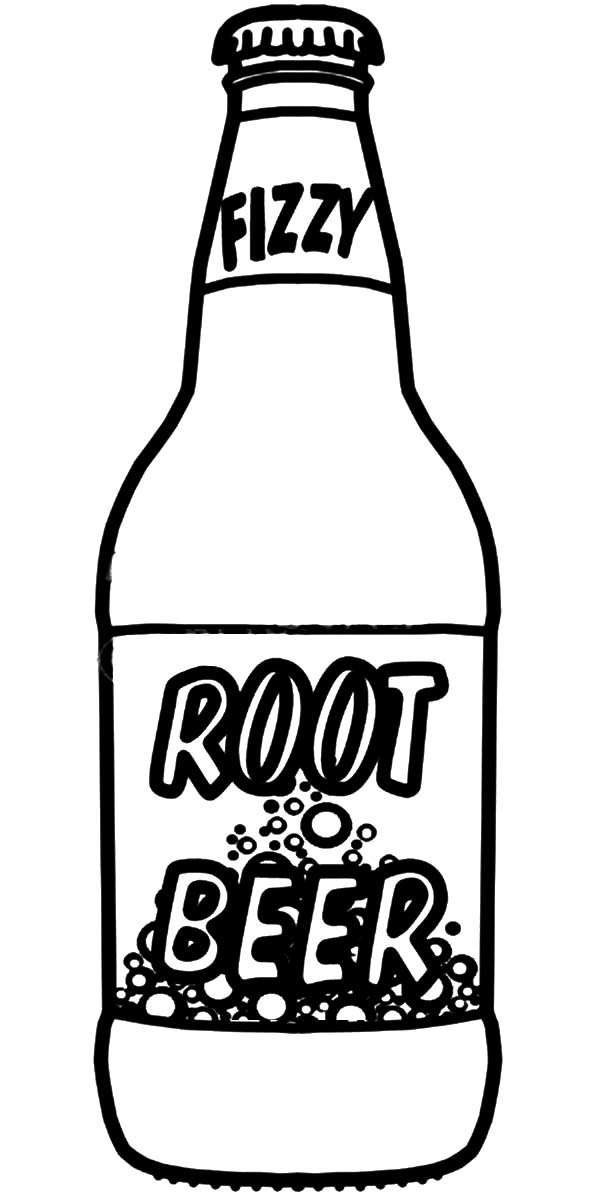 Drawn beer : Bottle Page Colouring Beer