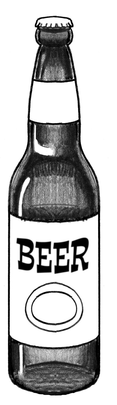 Drawn beer Of Coloring bottle collection Drawing