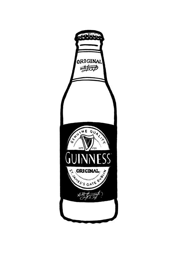 Guinness clipart Like Hand bottle illustration this