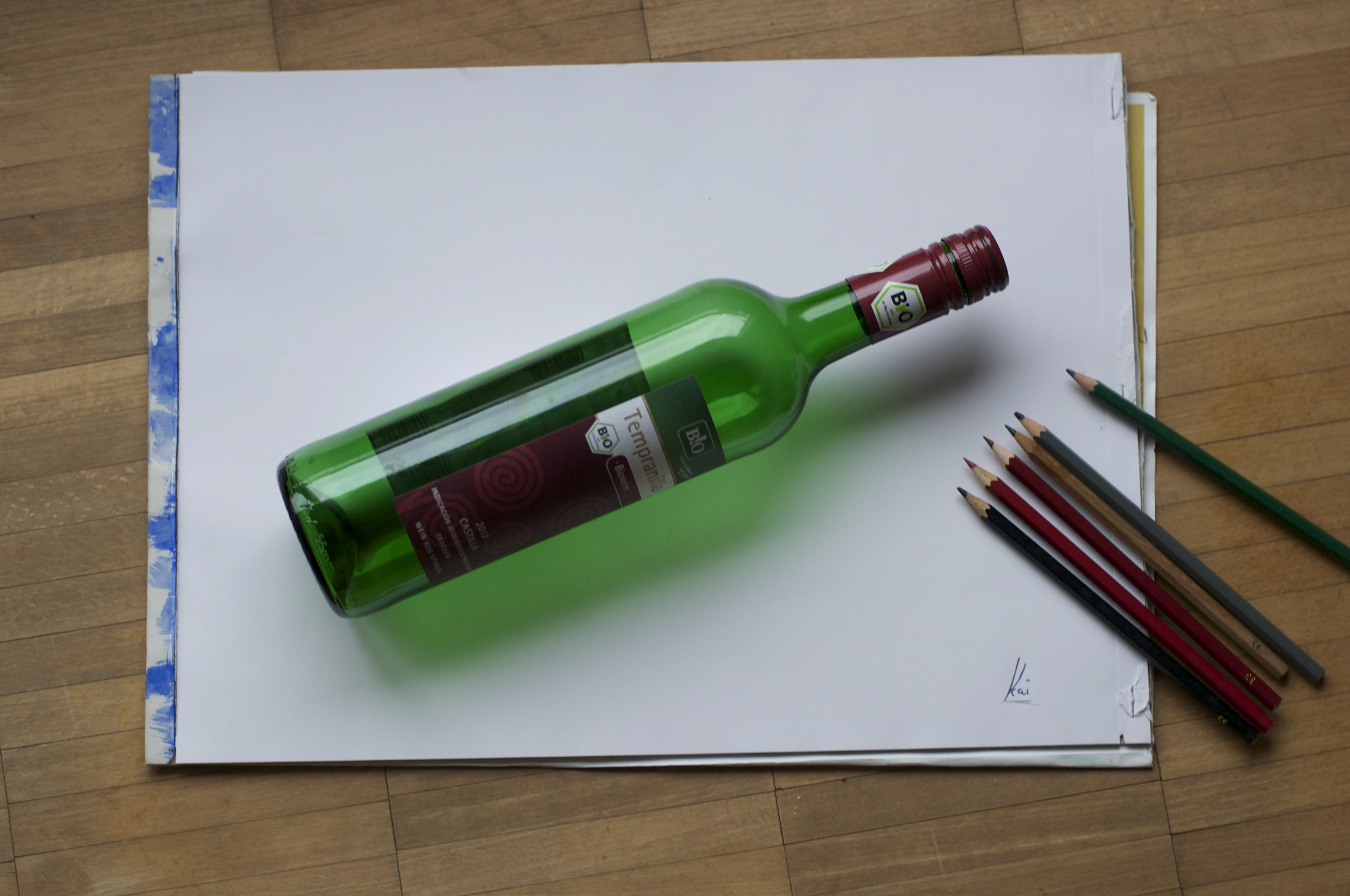 Drawn still life hyper realistic Friend this  this drawing!