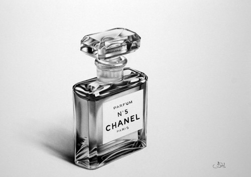 Drawn still life classic Drawing No Chanel Perfume Life