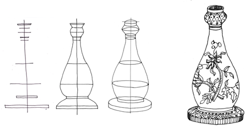 Drawn bottle To the blog the drawing