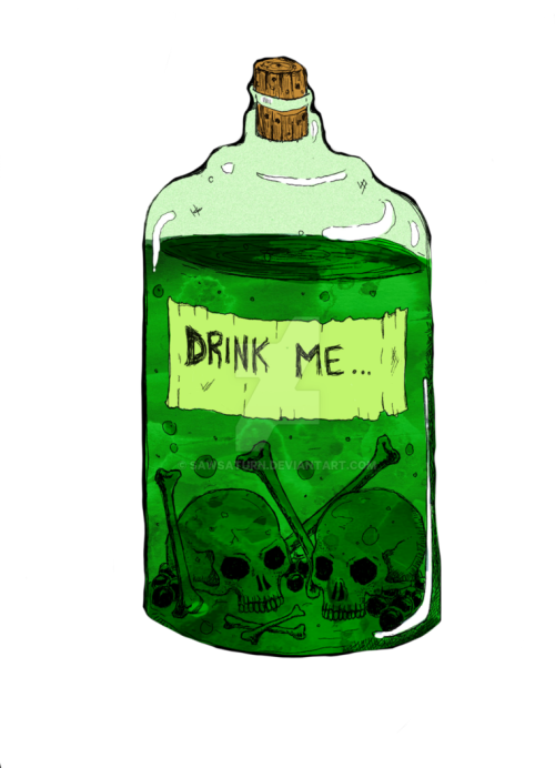 Drawn bottle DeviantArt SawSaturn on poison /