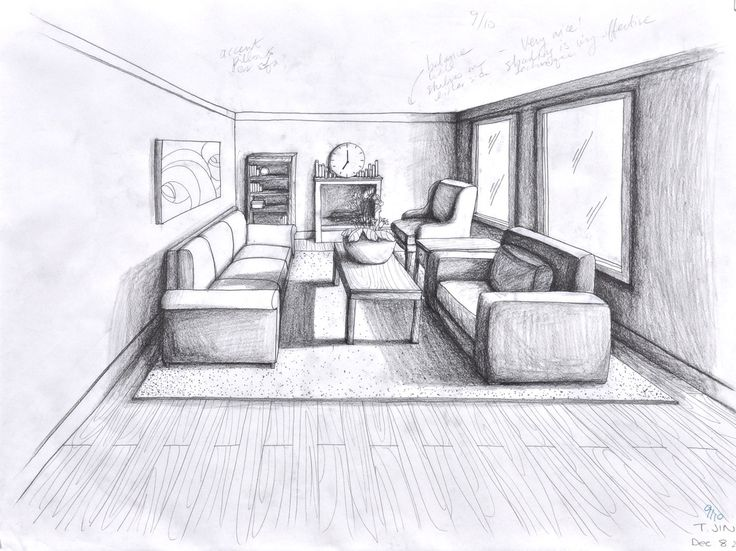 Drawn room perspective Point about Pinterest on 160