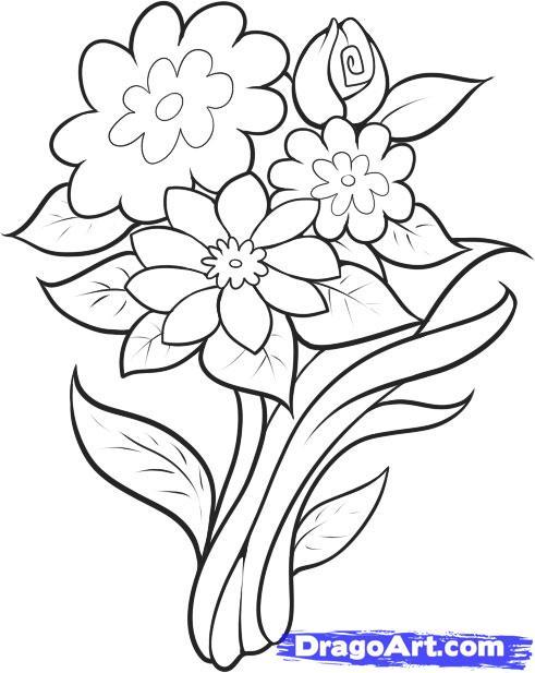 Drawn bouquet To Step step Step FREE