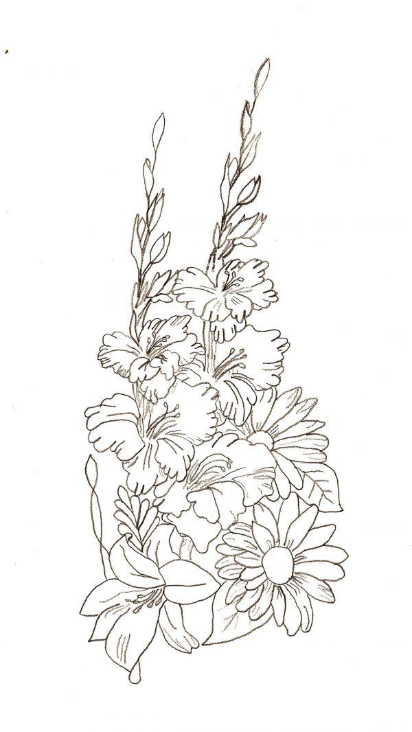 Drawn bouquet Drawing done few make Tutorial