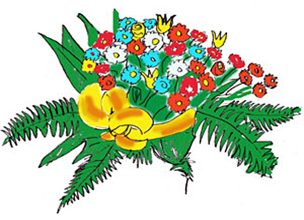 Drawn scenic day Flower Flower Draw to by