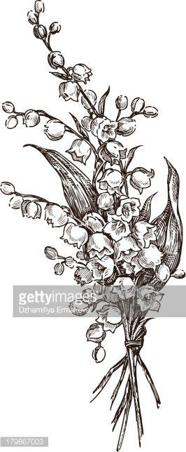 Drawn bouquet lily bouquet #8