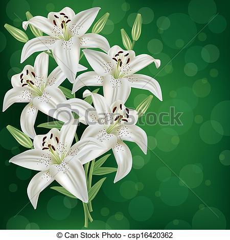 Drawn bouquet lily bouquet #1