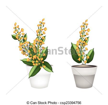 Drawn bouquet padauk In Clipart in Ceramic Pot