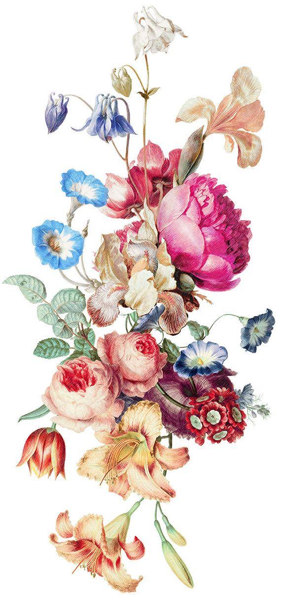 Drawn vintage flower bouquet Fresh intheyear1967 Pinterest on floral