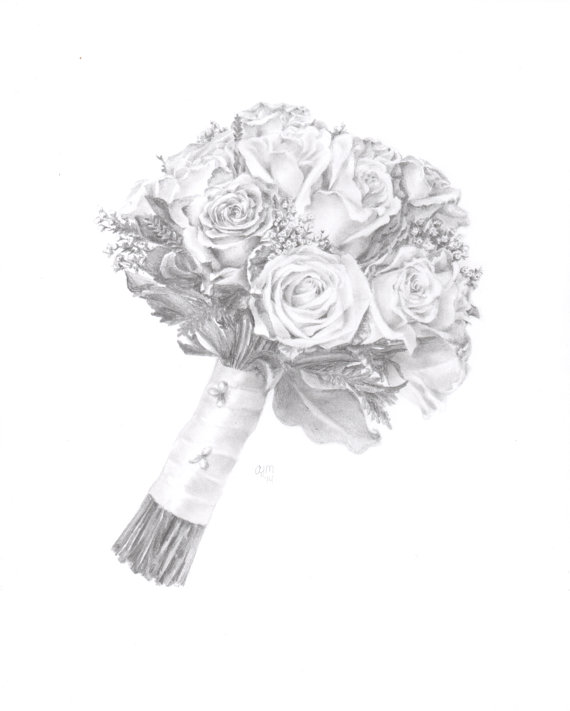Drawn bouquet wedding bouquet Drawing Bouquet Bouquet Bouquet Wedding
