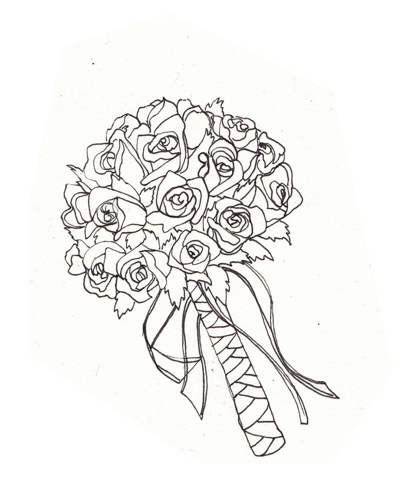 Drawn bouquet wedding bouquet Into Today drawing Night: Two