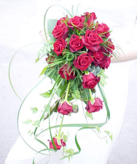 Drawn bouquet wedding bouquet Revealed Bridal of Chronicles Red