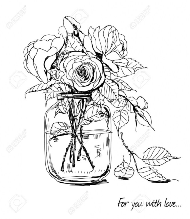 Drawn bouquet wedding bouquet Wedding Drawing To Flower Flower