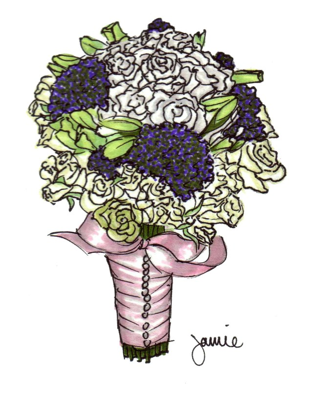 Drawn bouquet wedding bouquet For Draw Bouquet Wedding How