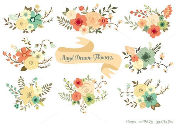 Drawn bouquet wedding bouquet Drawn Flowers Flowers Hand Draw