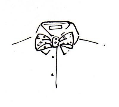 Drawn tie bow tie #15
