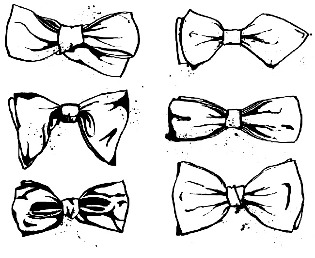 Drawn bow tie Bow tie Art Pinterest drawing