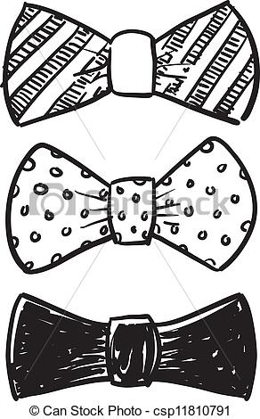 Drawn bow tie Vectors of sketch  Doodle