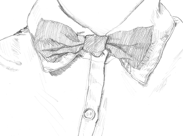 Drawn bow tie sketched #5