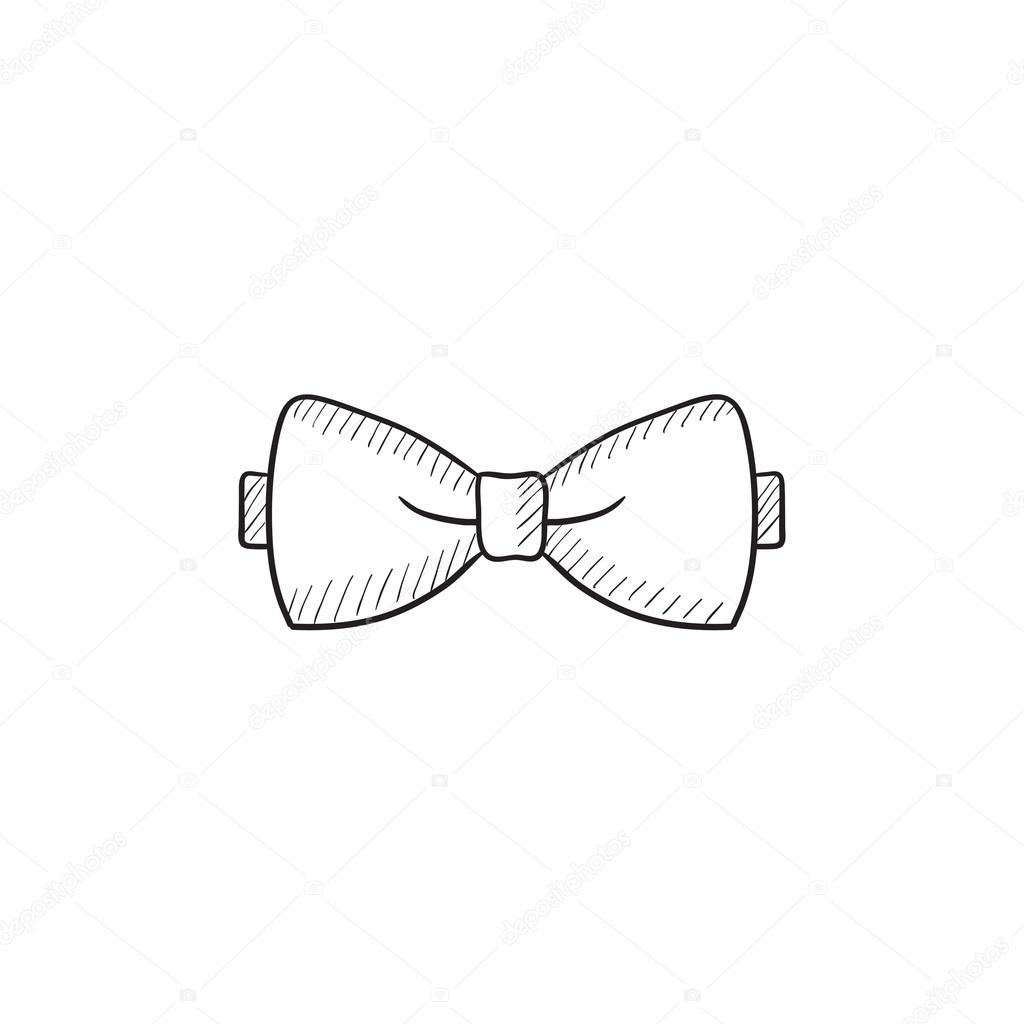 Drawn bow tie sketched #7