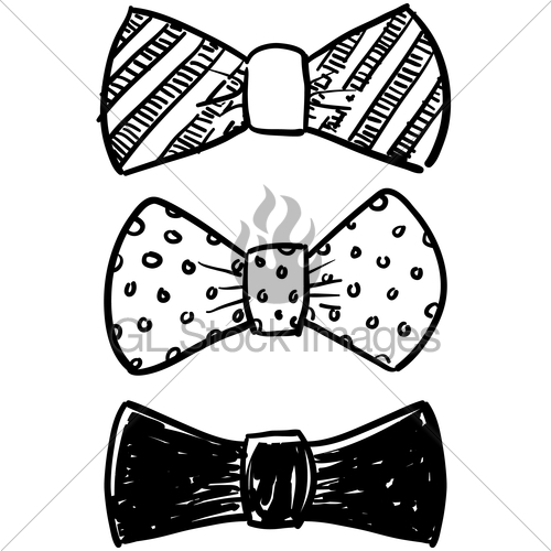 Drawn bow tie sketched #8