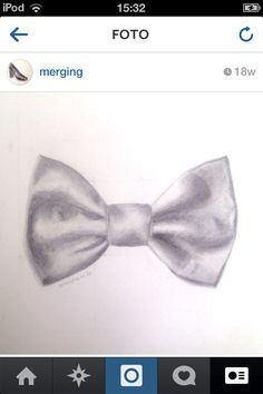 Drawn bow tie sketched #12