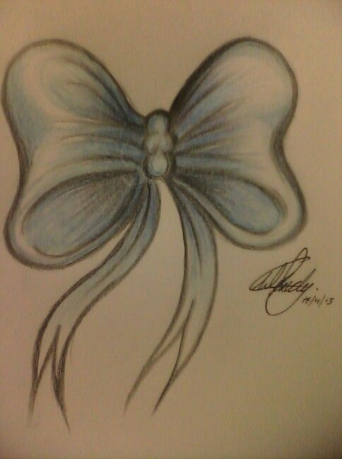 Drawn bow tie sketched #13