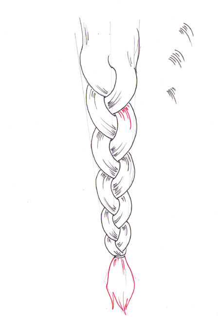 Drawn braid How draw How a draw