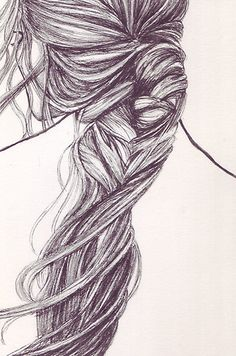Drawn braid art hair ArtHair Braids #sketch  sketch