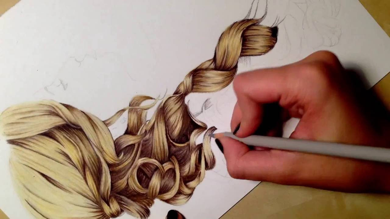 Drawn braid beginner hair How to (for draw hair